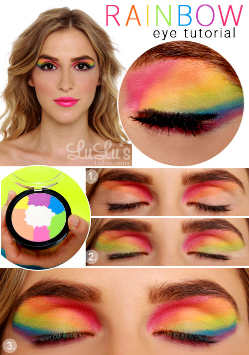 Lulu*s How-To: Rainbow Eye Shadow Tutorial