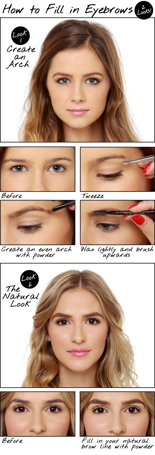 How to Fill in Eyebrows: Two Looks! Eyebrow Tutorial ...