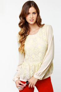 Laced Resort Cream Lace Top
