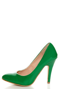 Mixx Rosemary Green Patent Pumps