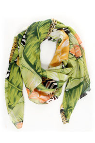 Journey Through the Jungle Print Scarf