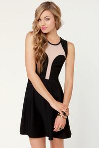 See You Through Black Cutout Dress