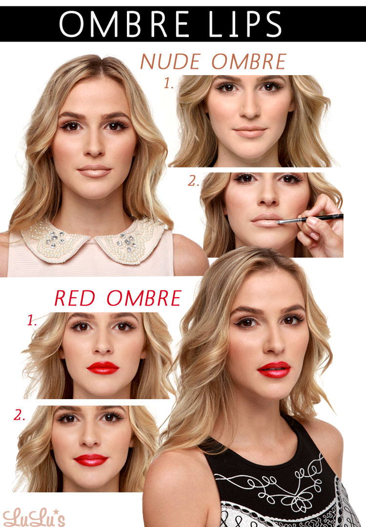 ombre lip makeup tutorial