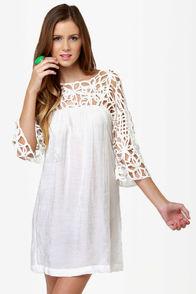 Motown White Dress