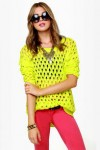 Inspection Points Neon Yellow Sweater
