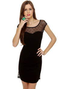 Sides-Hyped Black Lace Dress