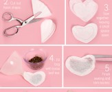 Valentine's Day DIY, heart-shaped tea bags, how to make heart-shaped tea bags