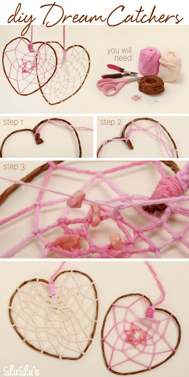 Diy How To Make A Heart Shaped Dreamcatcher Lulus Com Blog
