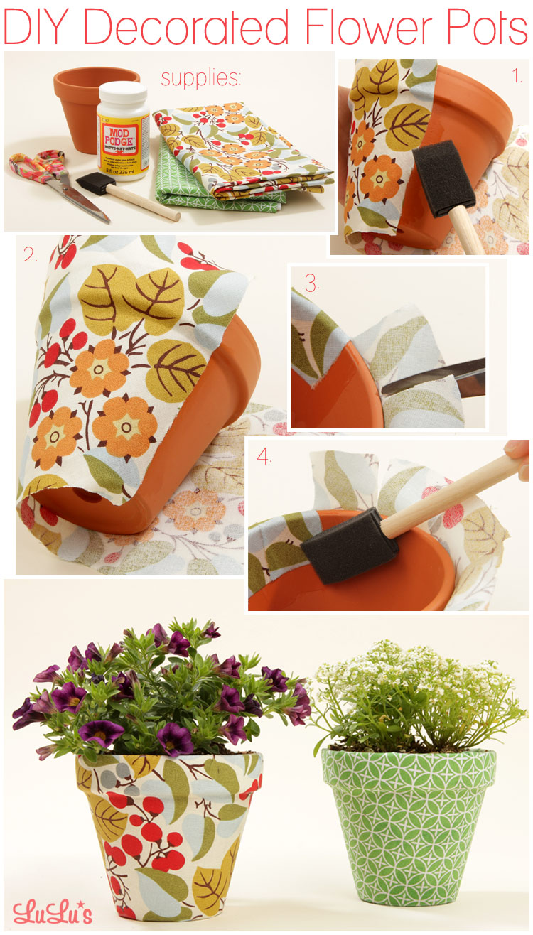 diy diy decorated flower pots