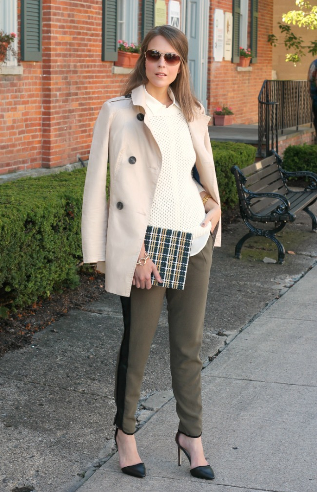 Trench + relaxed trousers