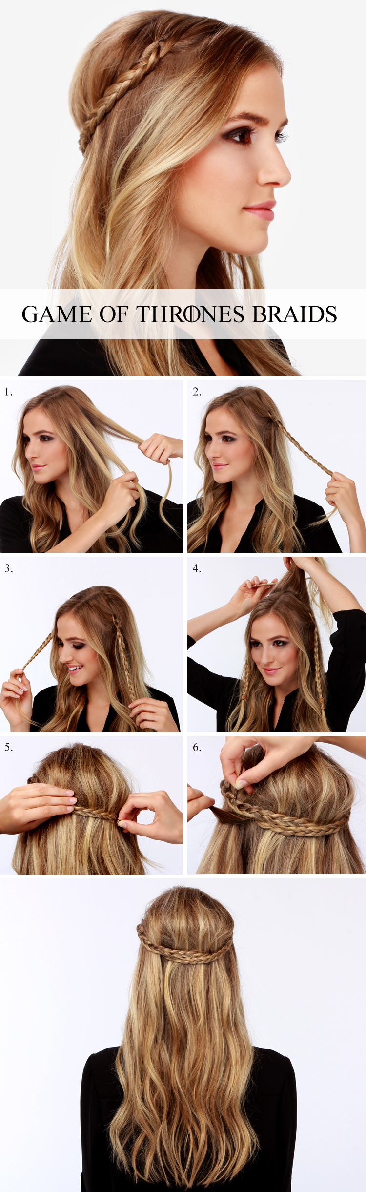 LuLu*s How-To: Game of Thrones Braid Tutorial! at LuLus.com!