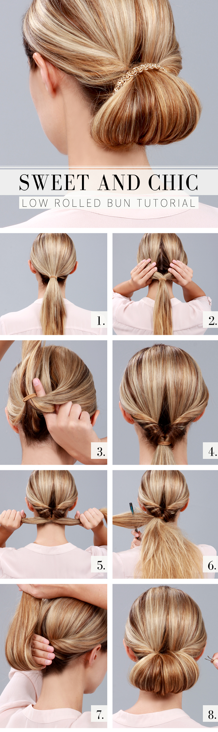 LuLu*s How-To: Chic Low Rolled Bun Tutorial! at LuLus.com!