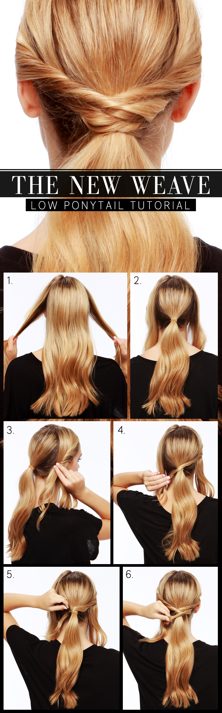 LuLu*s How-To: The New Weave Low Ponytail Tutorial - Lulus.com Fashion ...