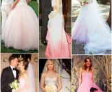 Pretty in Pink Wedding Dresses