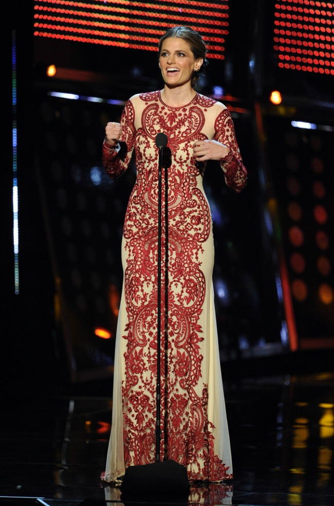 Stana-Katic-Peoples-Choice-Awards-2014-in-Naeem-Khan-