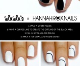 Mani Monday: Black and White Asymmetrical Crescent…