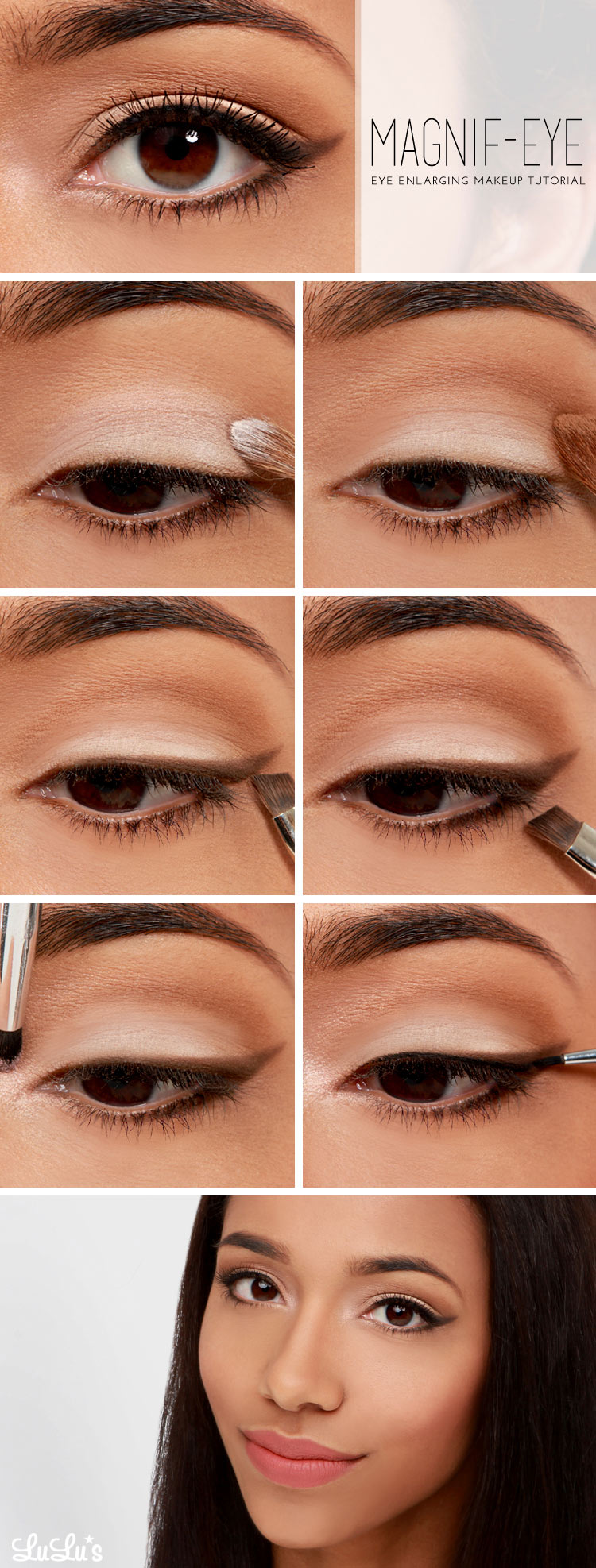 Steps. Sweep white eyeshadow ...