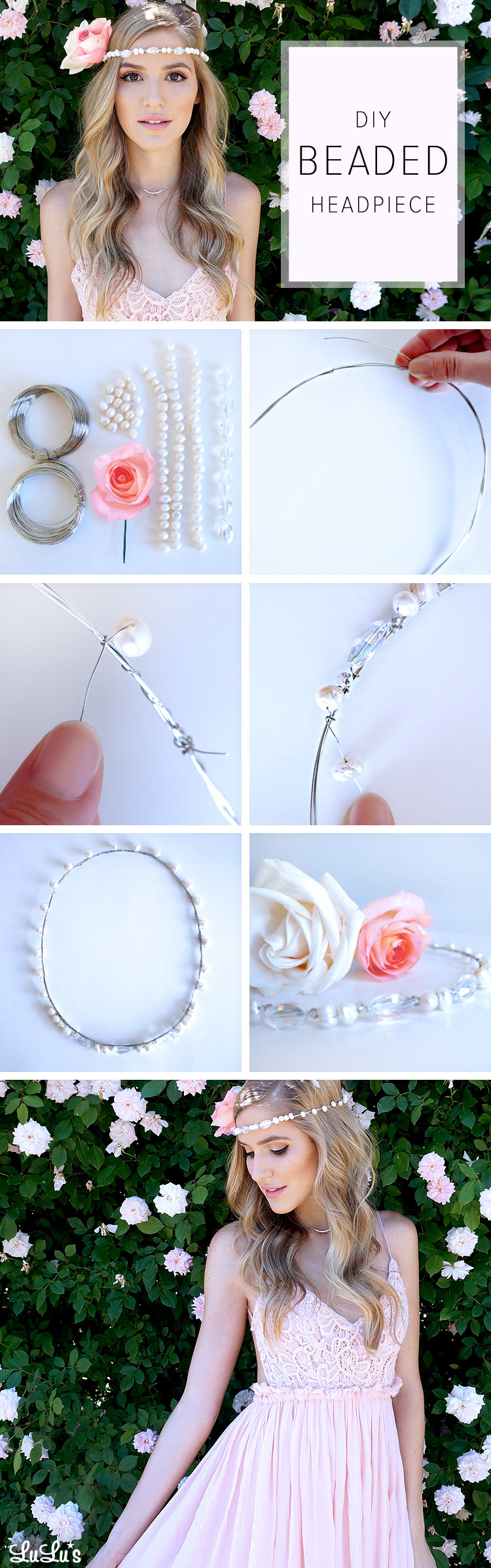 diy beaded headpiece