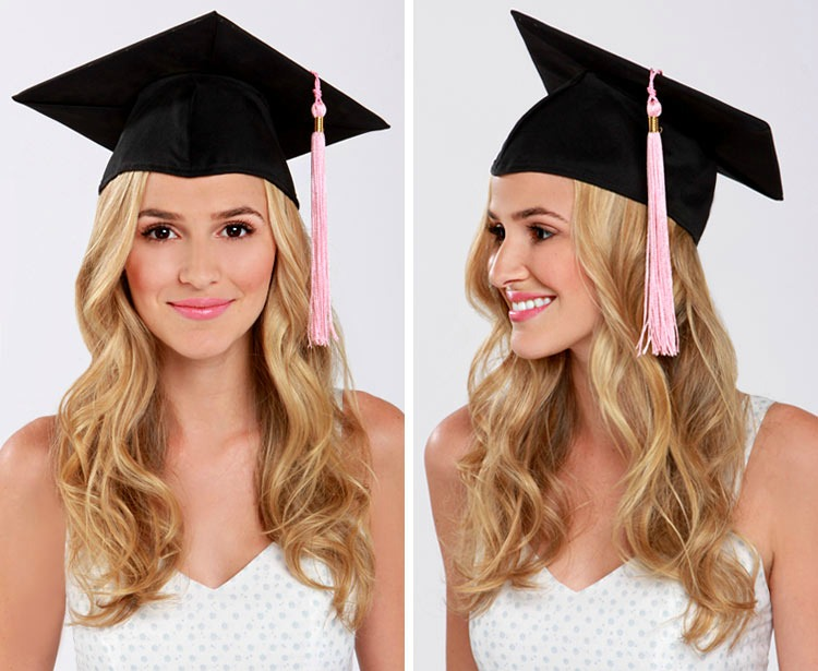 Hairstyles For Long Hair Under A Hat : LuLu*s How-To: Graduation Cap Hair Tutorial - Lulus.com Fashion Blog