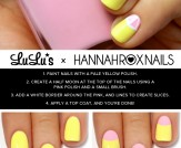 Mani Monday: Yellow and Pink Grapefruit Nail Tutor…