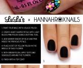 Mani Monday: Black Multi-Color Floral Mani Tutoria…
