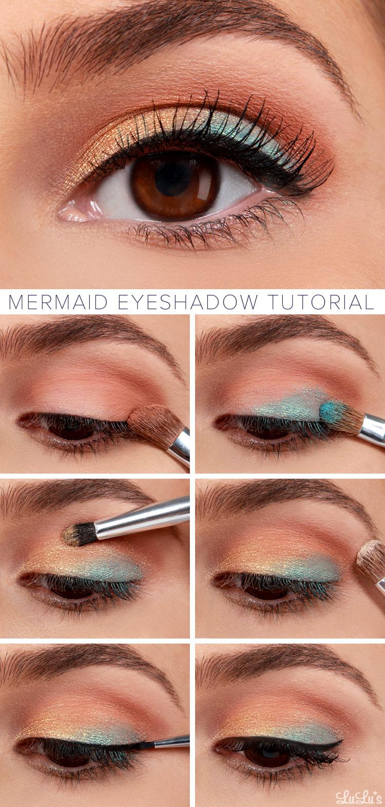 Mermaid Eyeshadow Makeup Tutorial
