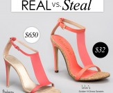 Real vs. Steal: Burberry Taylor High Heels