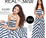 Real vs. Steal: Oscar de la Renta Striped Dress