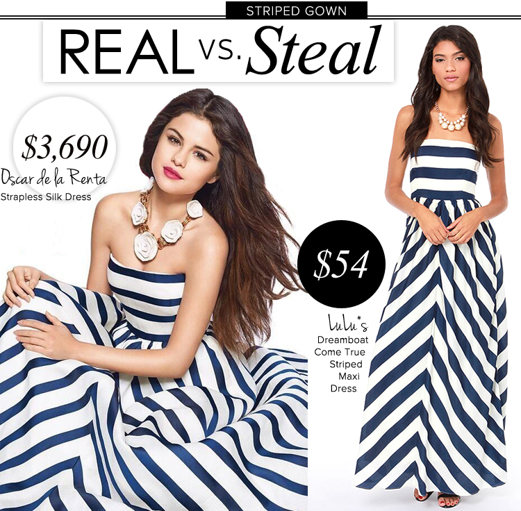 Oscar de la Renta Striped Dress