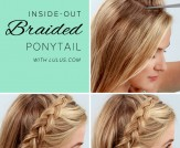 LuLu*s How-To: Inside-Out Braided Ponytail