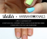 Mani Monday: Neon Rainbow Nail Tutorial
