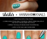 Mani Monday: Teal and Gold Mermaid Nail Tutorial