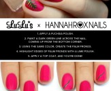 Mani Monday: Fuchsia Tropical Nail Tutorial