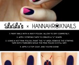 Mani Monday: Hot Pink and Navy Blue Chevron Nail T…