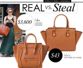Real vs. Steal: Celine Luggage Handbag