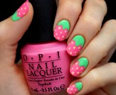 Mani Monday: Pink Strawberry Nail Tutorial