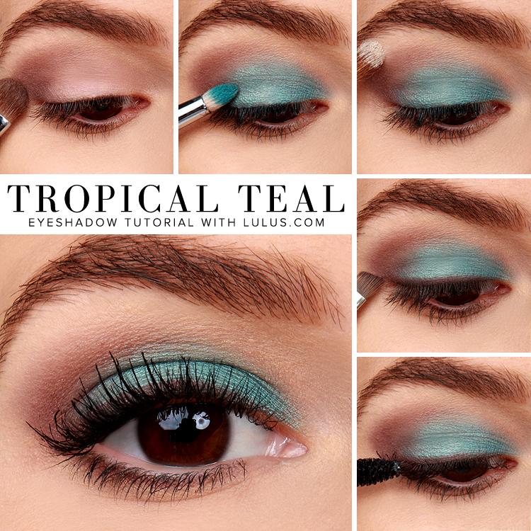 LuLu*s How-To: Tropical Teal Eyeshadow Tutorial at LuLus.com!