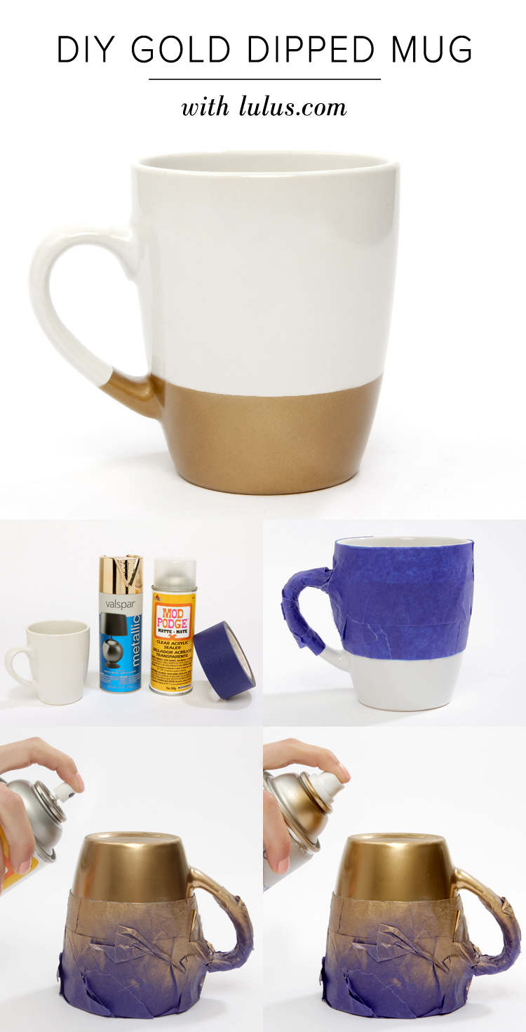 DIY Gold Dipped Mug