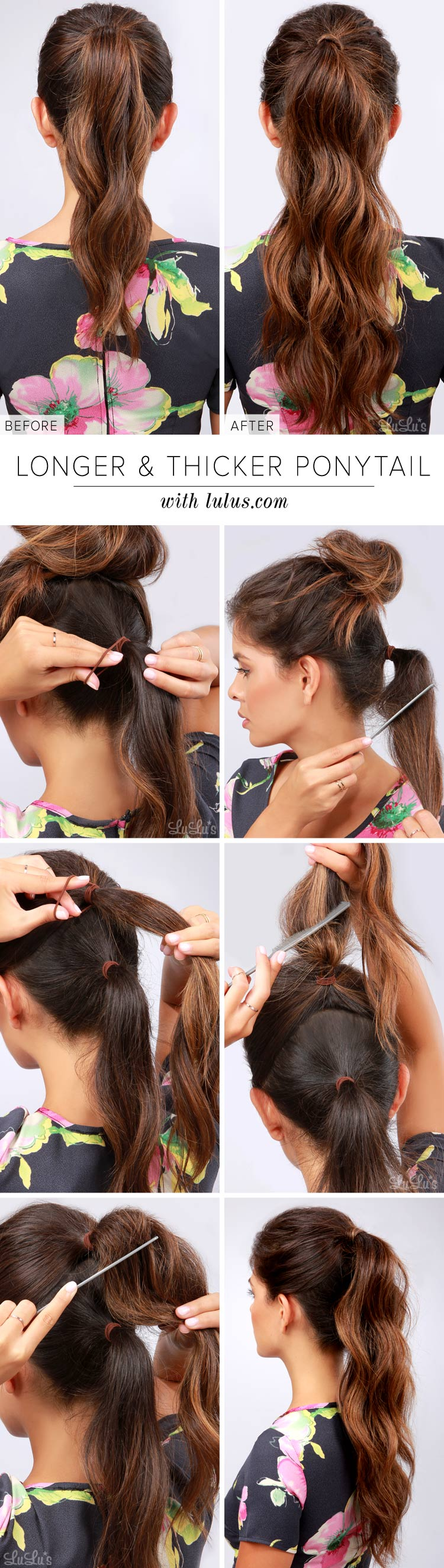 thicker ponytail