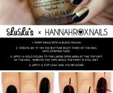 Mani Monday: Black and Gold Color Block Nail Tutor…