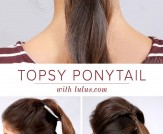 LuLu*s How-To: Topsy Ponytail Hair Tutorial
