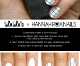 Mani Monday: Grey and White Grid Pattern Nail Tuto…