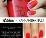 Mani Monday: Ruby Red and Pink French Nail Tutoria…
