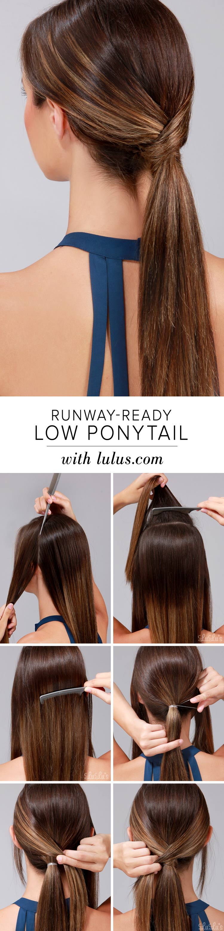 Runway-Ready Low Ponytail