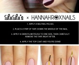 Mani Monday: Blush and Burgundy Striped Nail Tutor…