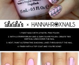 Mani Monday: Pastel Pink and Herringbone Nail Tuto…