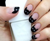 Mani Monday: Black Cat French Nail Tutorial