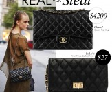 Real vs. Steal: Chanel Classic Flap Bag
