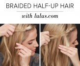 LuLu*s How-To: Half-Up Braided Hair Tutorial