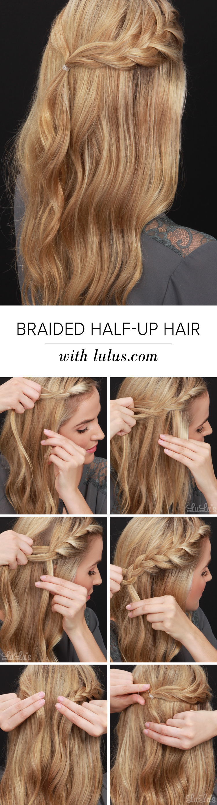 half-up braided hair